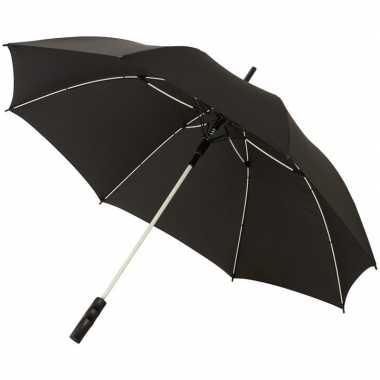 Automatische storm paraplu zwart/wit 58 cm