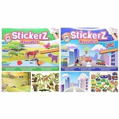Autoraam stickerboekjes in verkeer en dieren thema