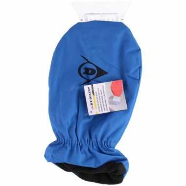 Autoruiten krabber blauw met handschoen dunlop