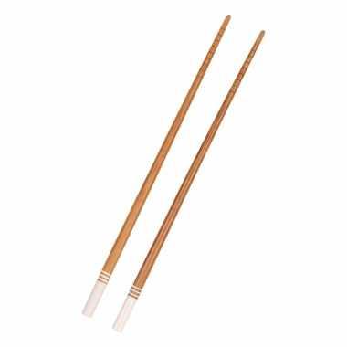 Bamboe eetstokjes wit 2 stuks