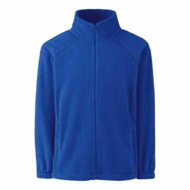 Basis kobalt blauwe fleece vesten jongenskleding