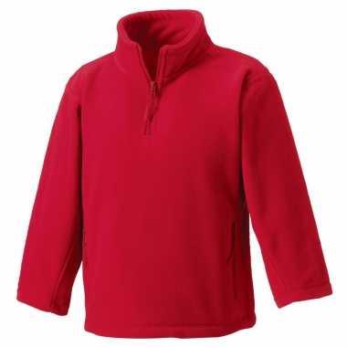 Basis rode fleece truien meisjeskleding