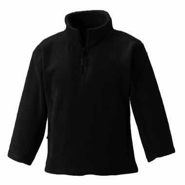 Basis zwarte fleece truien meisjeskleding