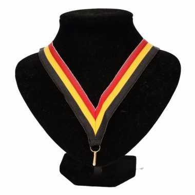 Belgie supporters halslint zwart geel rood