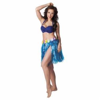 Blauw tropisch strorokje voor dames