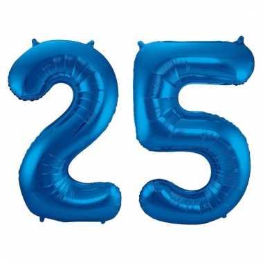 Blauwe folie ballonnen 25 jaar