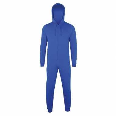 Blauwe jumpsuit all-in-one voor heren
