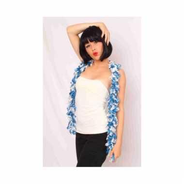 Boa sjaal blauw wit