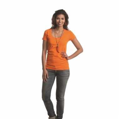 Bodyfit dames shirt met ronde hals