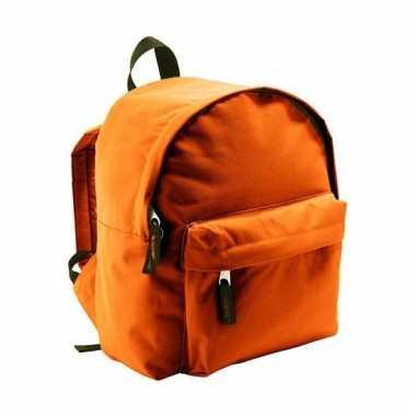 Boekentas oranje voor kinderen 9 liter