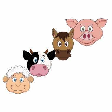 Boerderij dieren maskers knutselen pakket