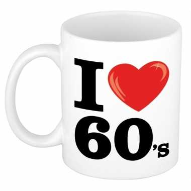 Cadeau beker voor jaren 60 liefhebber 300 ml
