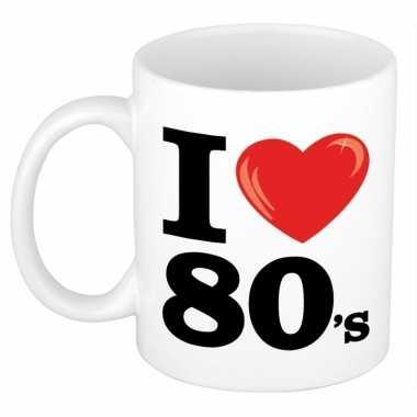 Cadeau beker voor jaren 80 liefhebber 300 ml