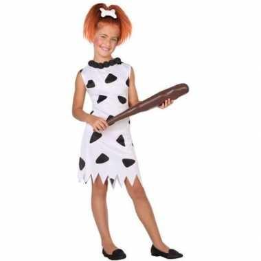 Carnaval/feest holbewoonster wilma oertijd verkleedoutfit jurk voor m