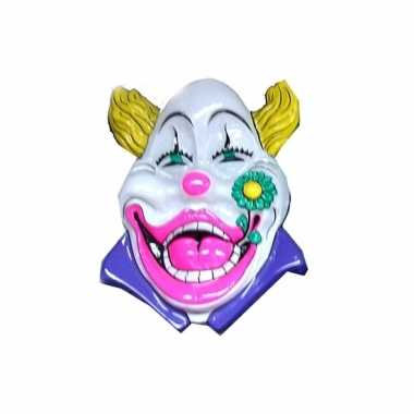 Carnaval wanddecoratie clown wit