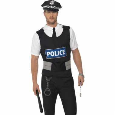 Carnavals kleding politie verkleed setje