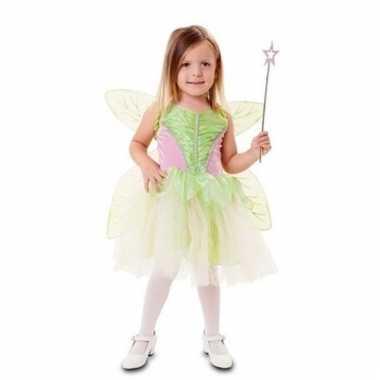 Carnavalskleding groene feeen jurk voor meisjes