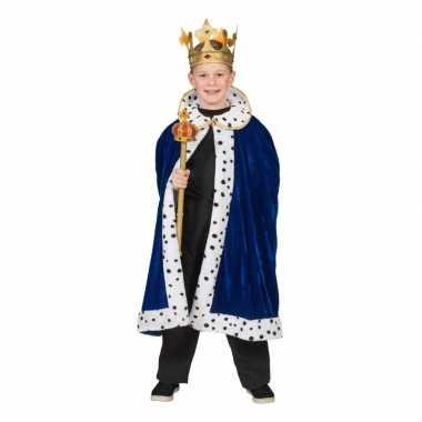 Carnavalskleding koning cape voor jongens