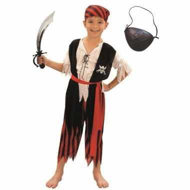 Carnavalskleding piraat maat m voor jongens/meisjes