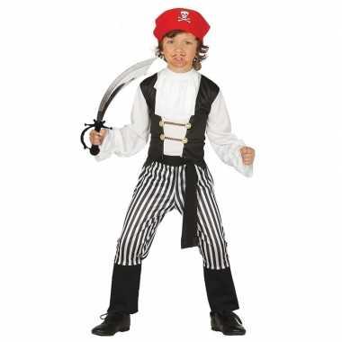 Carnavalskleding piraat met zwaard maat 128 134 voor jongens meisjes
