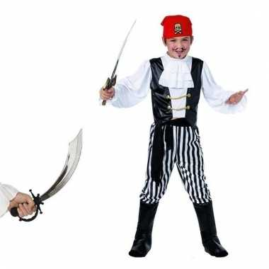 Carnavalskleding piraat met zwaard maat s voor jongens meisjes 10103385