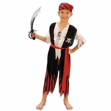 Carnavalskleding piraat met zwaard maat s voor jongens meisjes