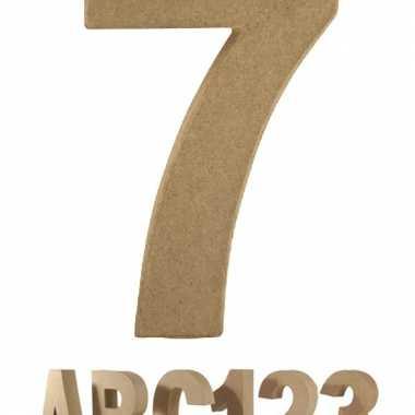 Cijfer 7 van papier mache voor decoratie