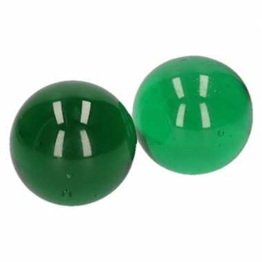 Clown knikker groen 6 cm 2 stuks