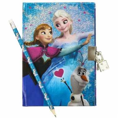 Dagboek frozen elsa en anna met slot
