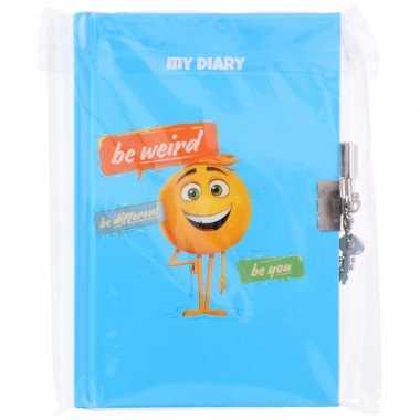 Dagboek met emoticon opdruk en slot