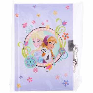 Dagboek met frozen opdruk en slot