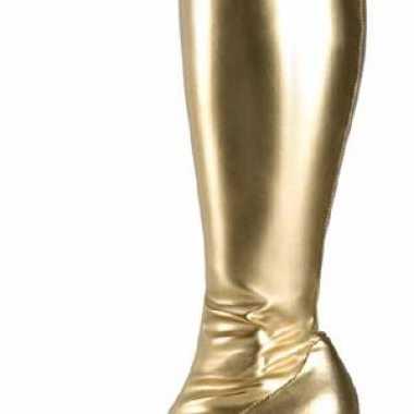 Dames glimmende gouden laarzen