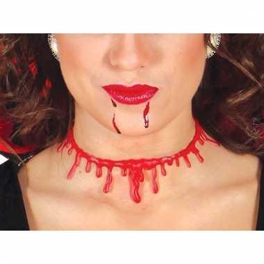 Dames halsketting met bloeddruppels