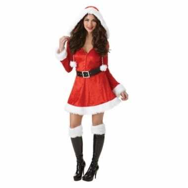 Dames kerstkleding jurkje met capuchon