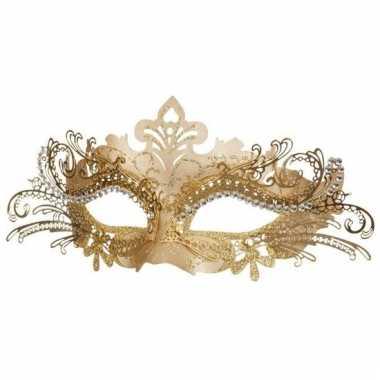 Dames oogmasker venetie goud