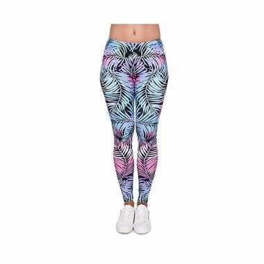 Dames party legging hawaii thema 10099186