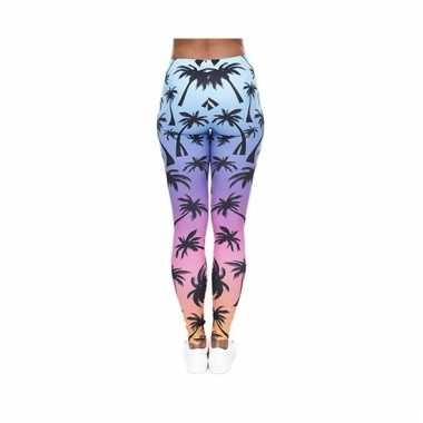 Dames party legging hawaii thema 10099192