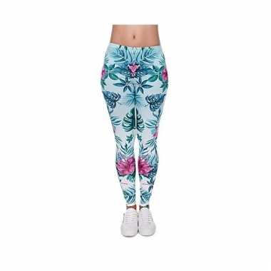 Dames party legging hawaii thema