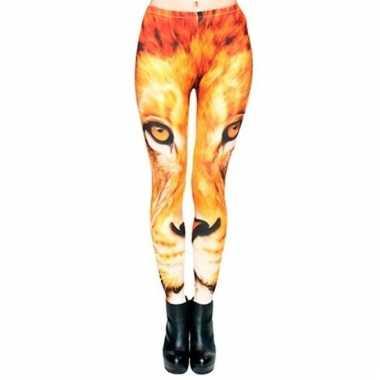 Dames party legging leeuw