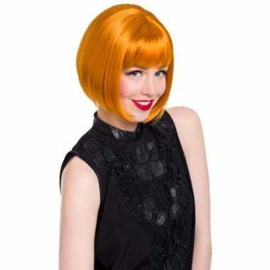 Dames pruik natuurlijk rood/oranje