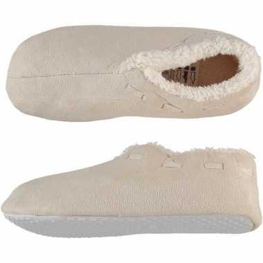 Dames spaanse sloffen/pantoffels creme wit