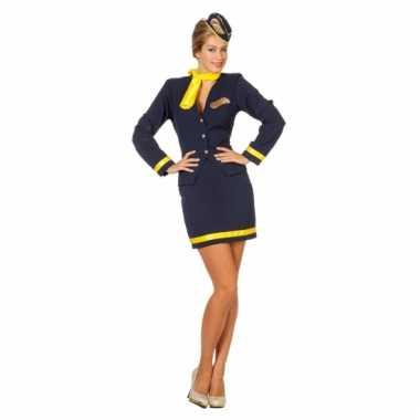 Dames stewardess carnavalskleding