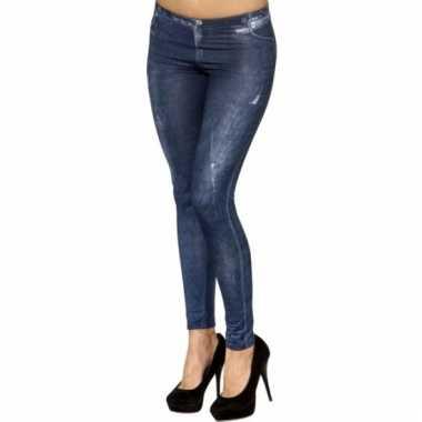 Dameslegging jeans print
