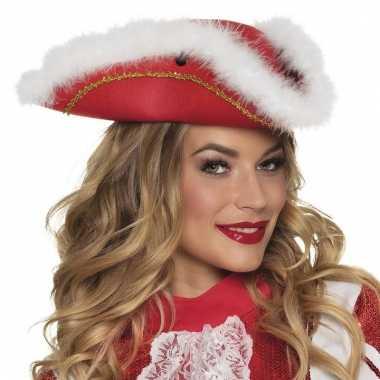 Dansmarieke hoedje rood en wit