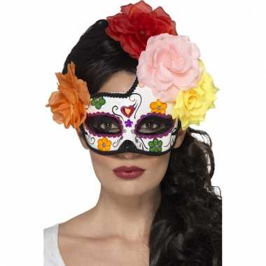Day of the dead masker van plastic