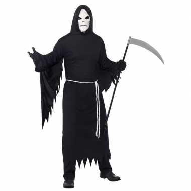 De dood kostuum zwart met masker voor volwassenen