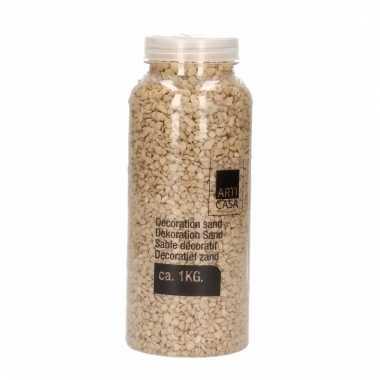 Deco zand/steentjes lichtbruin 1 kg