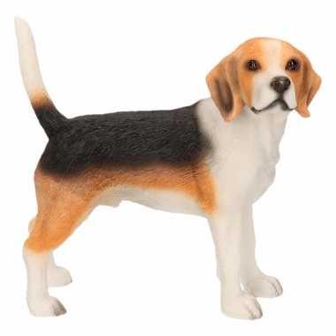 Decoratie beeld beagle 11 cm