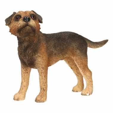 Decoratie beeld border terrier hond 11 cm