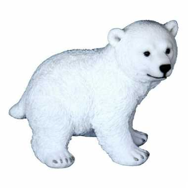 Decoratie beeld ijsbeer dier 18 cm